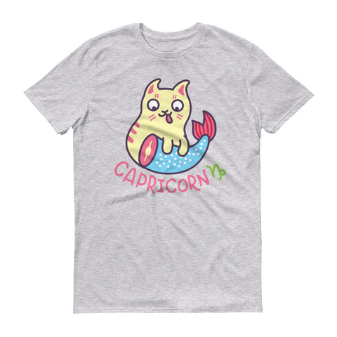 Image of Capricorn Cat Short-Sleeve T-Shirt