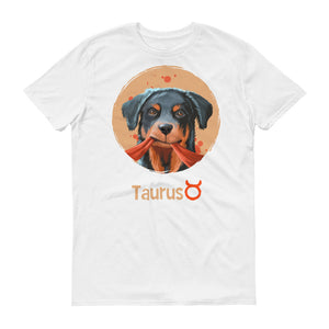 Strong Taurus Dog Short-Sleeve White T-Shirt