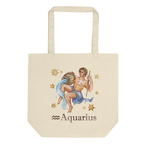 Aquarius Celestial Painting Eco Tote Bag