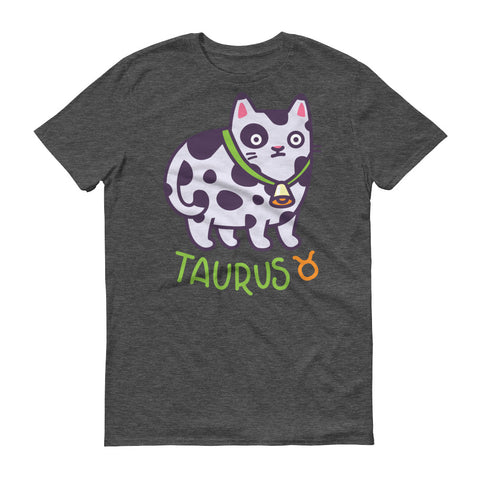 Image of Taurus Cat Short-Sleeve Dark T-Shirt