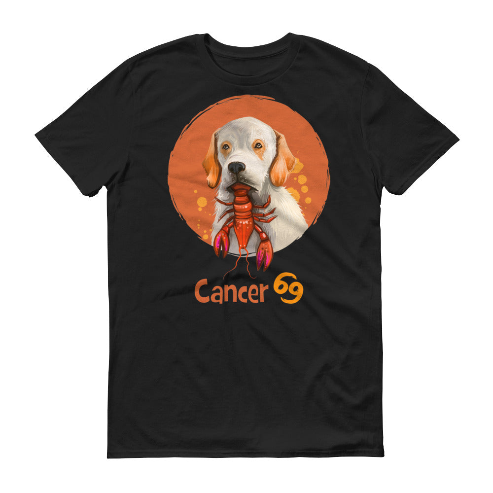 Intuitive Cancer Dog Short-Sleeve Dark T-Shirt