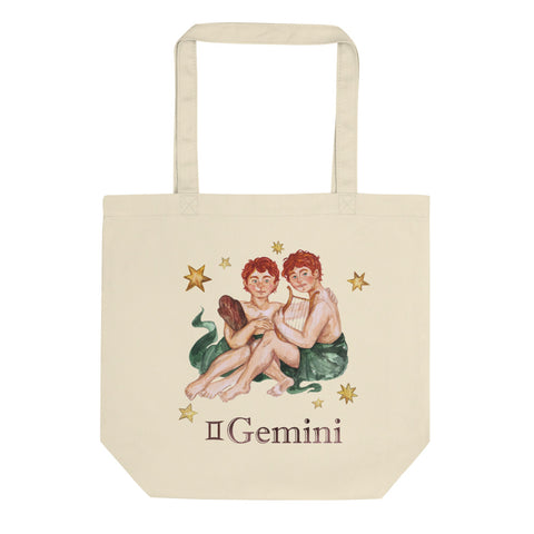 Gemini Celestial Painting Eco Tote Bag