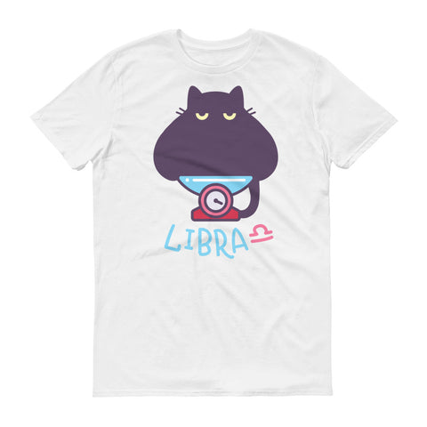 Image of Libra Cat Short-Sleeve T-Shirt