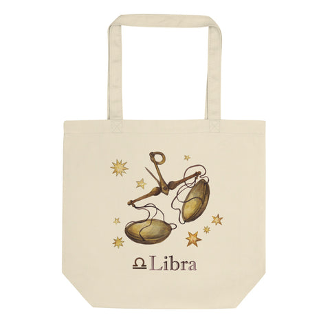 Libra Celestial Painting Eco Tote Bag