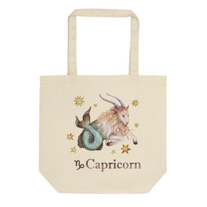 Capricorn Celestial Painting Eco Tote Bag