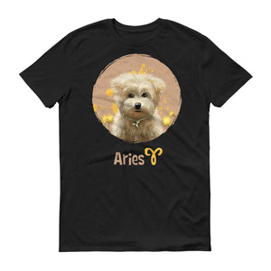 Calm Aries Dog Short-Sleeve Dark T-Shirt