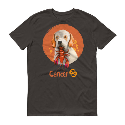 Image of Intuitive Cancer Dog Short-Sleeve Dark T-Shirt