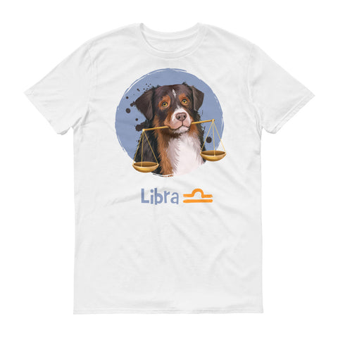 Wise Libra Dog Short-Sleeve White T-Shirt