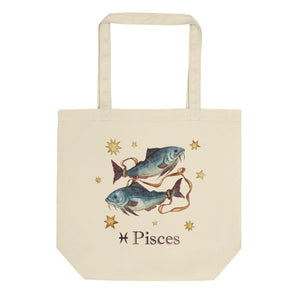 Pisces Celestial Painting Eco Tote Bag