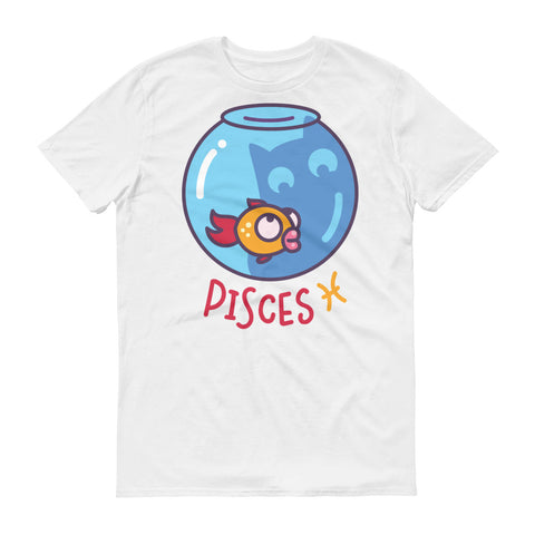 Image of Pisces Cat Short-Sleeve T-Shirt