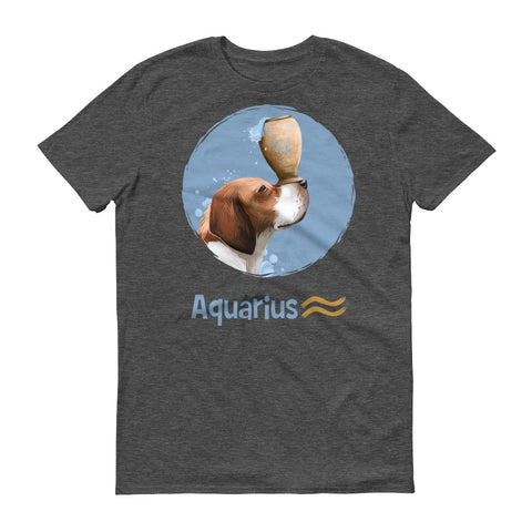 Generous Aquarius Dog Short-Sleeve Dark T-Shirt