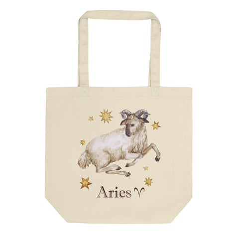 Aries Celestial Painting Eco Tote Bag