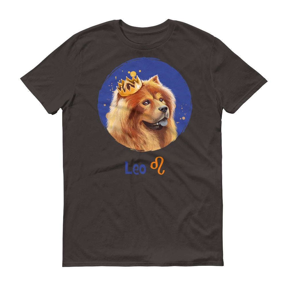 Proud Leo Dog Short-Sleeve Dark T-Shirt