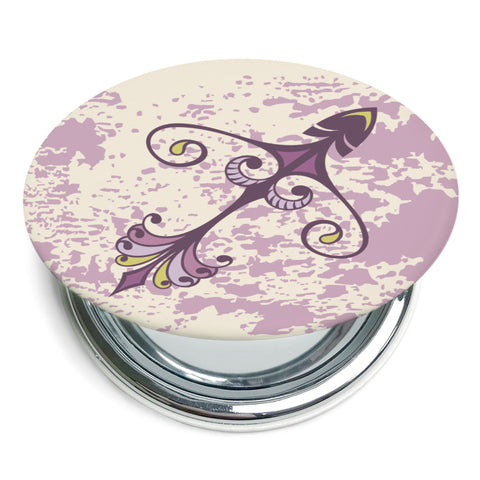 Image of Custom Printed Sagittarius Star Sign Foldable Compact Mirror