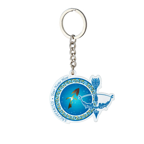 Personalized YOUR NAME HERE Keychain (SAGITTARIUS)