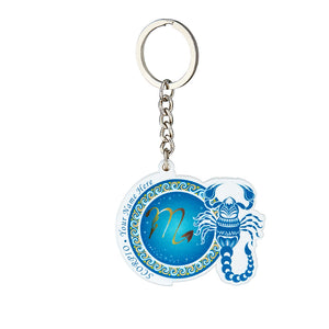 Personalized YOUR NAME HERE Scorpio Keychain