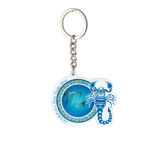 Personalized YOUR NAME HERE Keychain (SCORPIO)