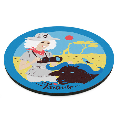 Image of Custom Printed Taurus Horoscope Star Sign Mousepad