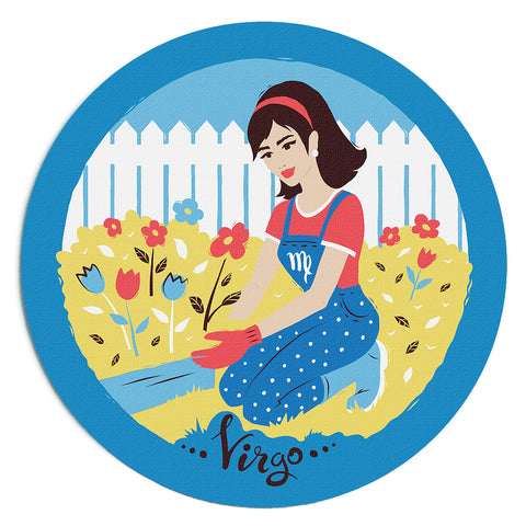 Image of Custom Printed Virgo Horoscope Star Sign Mousepad