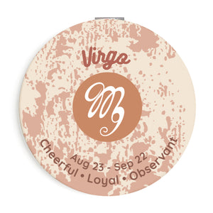 Custom Printed Virgo Star Sign Foldable Compact Mirror