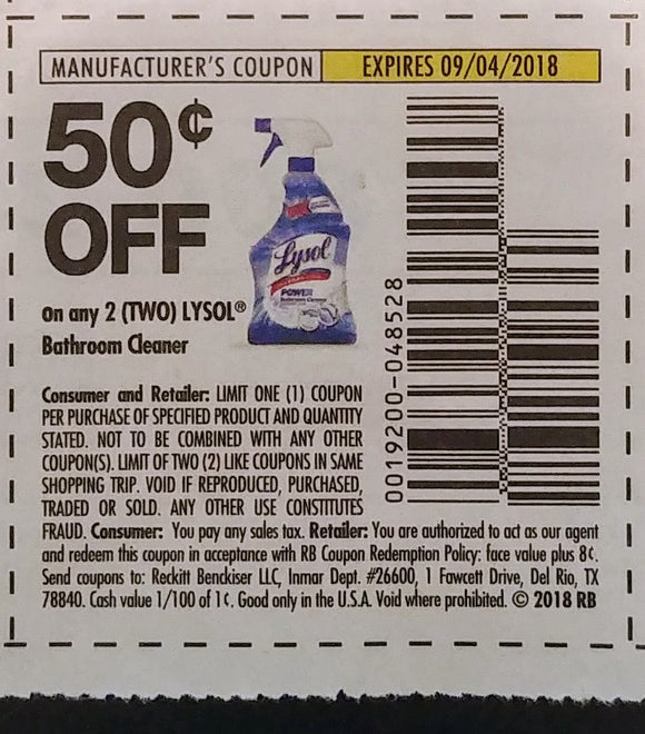 Lysol (FS) - SET OF 10