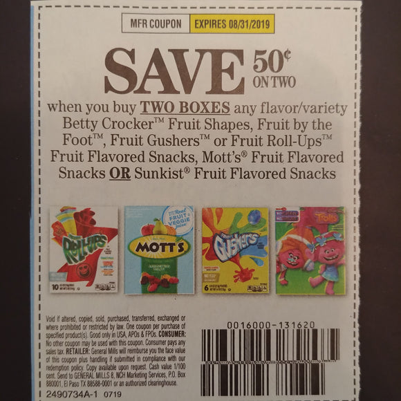 Betty Crocker Fruit Snacks (FS)