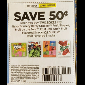 Betty Crocker Fruit Snacks (FS) - SET OF 10