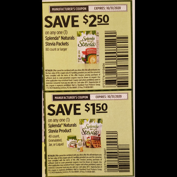 Splenda Strip (FS) - SET OF 10