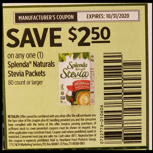 Splenda Stevia Packets (FS)