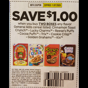 General Mills Cereal (FS) - SET OF 10
