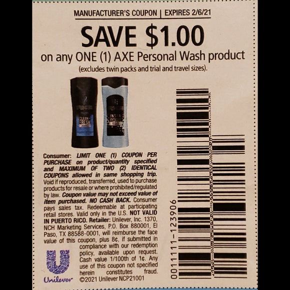 AXE Body Wash - SET OF 10