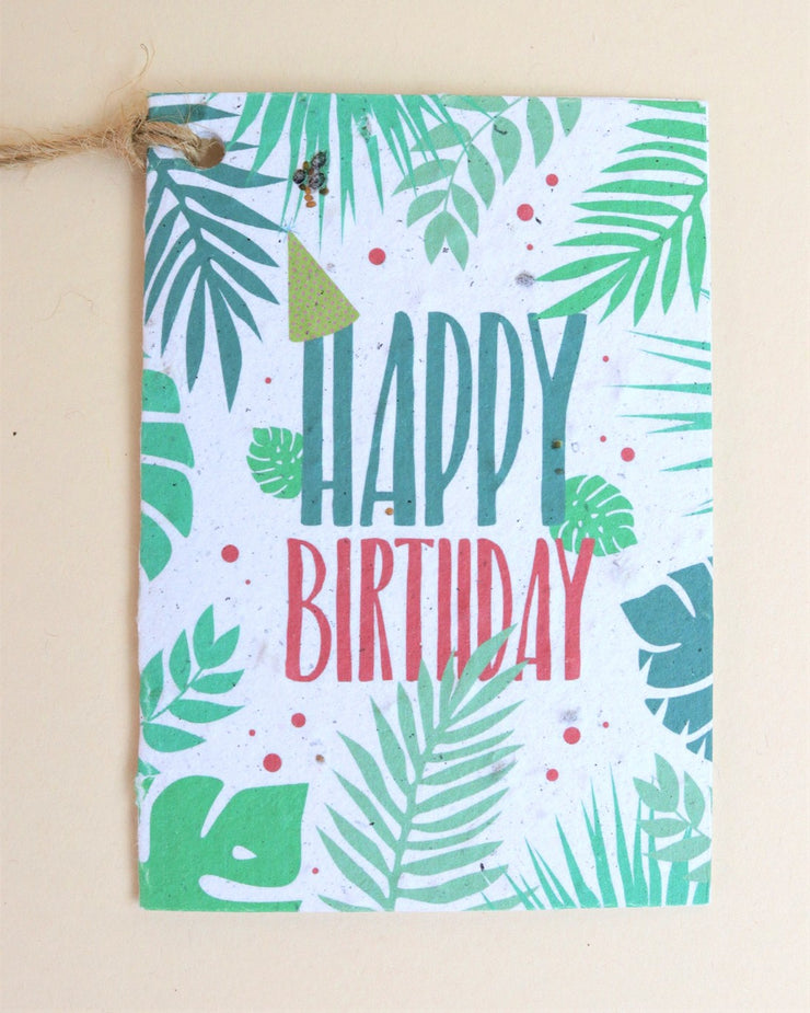 Seed paper gift tags