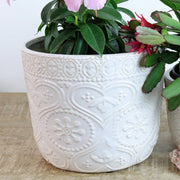 Ceramic heart pot