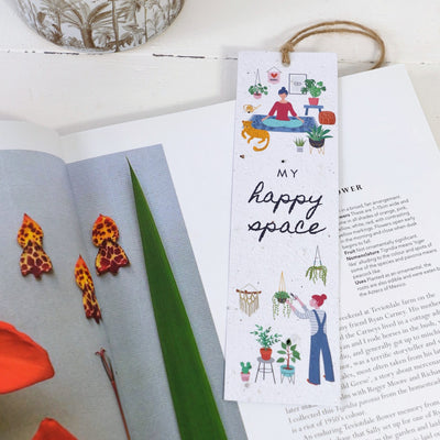 Seed paper book mark