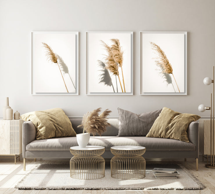 Botanical Print Pampas Grass Portrait 1