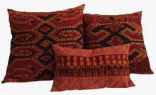 Load image into Gallery viewer, Ikat Pillow Cover, Red. Cover Only with No Insert. 24inches x 24inches