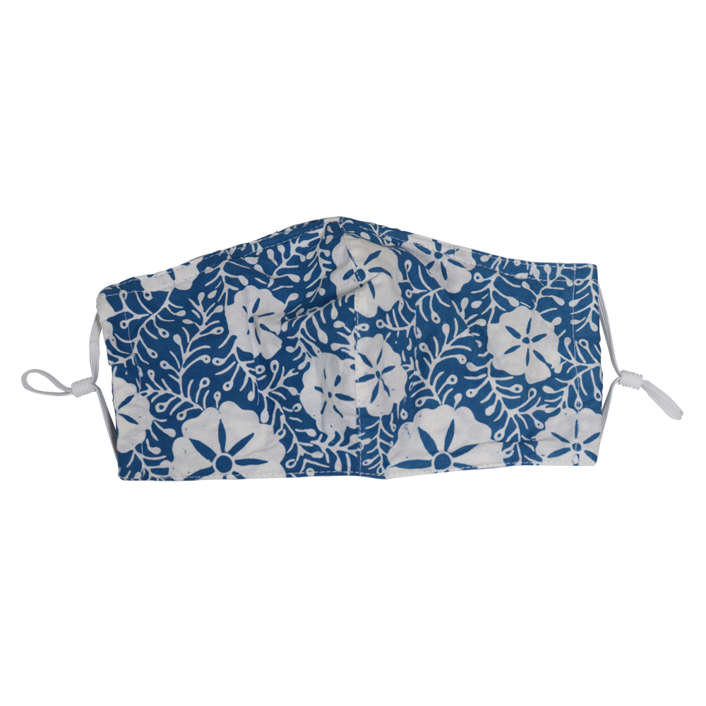 Gili Collection Batik Face Covering - Snow