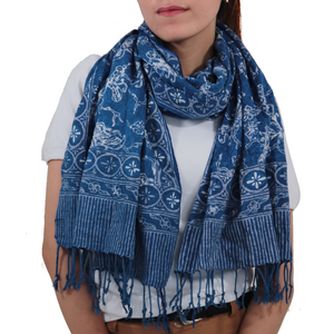 Batik Gili Face Covering & Scarf Set - Butterfly
