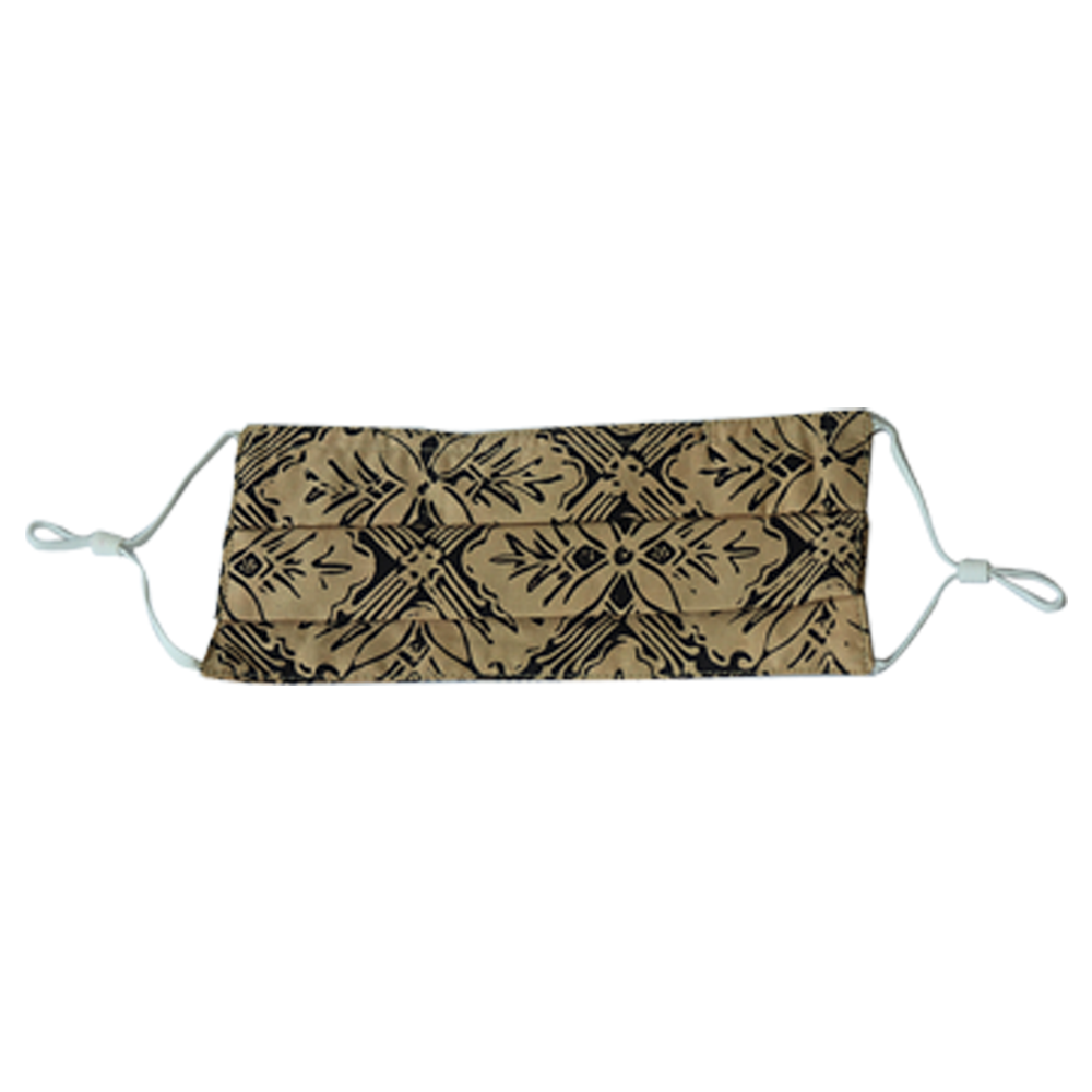 Lombok Collection Rectangle Batik Face Covering - Harvest