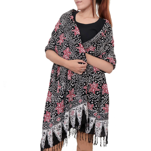 Batik Gili Face Covering & Batik Shawl Set - Star