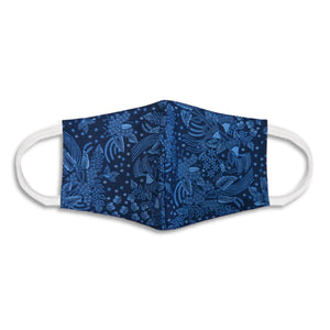 Batik Face Covering - Blue