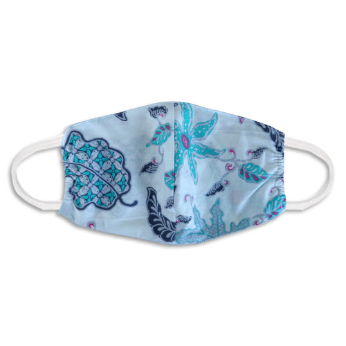 Batik Face Mask - Blue & Pink