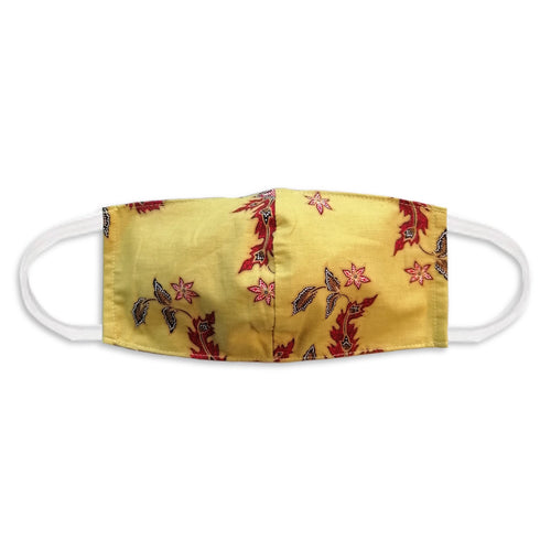 Batik Face Mask - Yellow Mustard