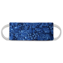 Load image into Gallery viewer, Rectangle Batik Face Mask with Insert Pocket - Blue