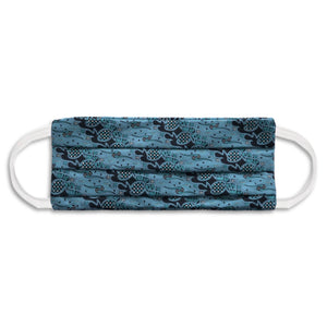 Rectangle Batik Face Covering with Insert Pocket - Turquoise