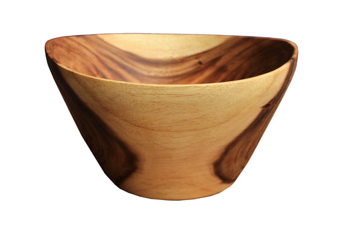Suar Wood Salad Bowl 12inches x 10inches x 7inches