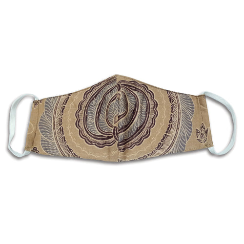 Bali Collection Batik Face Mask - Cream