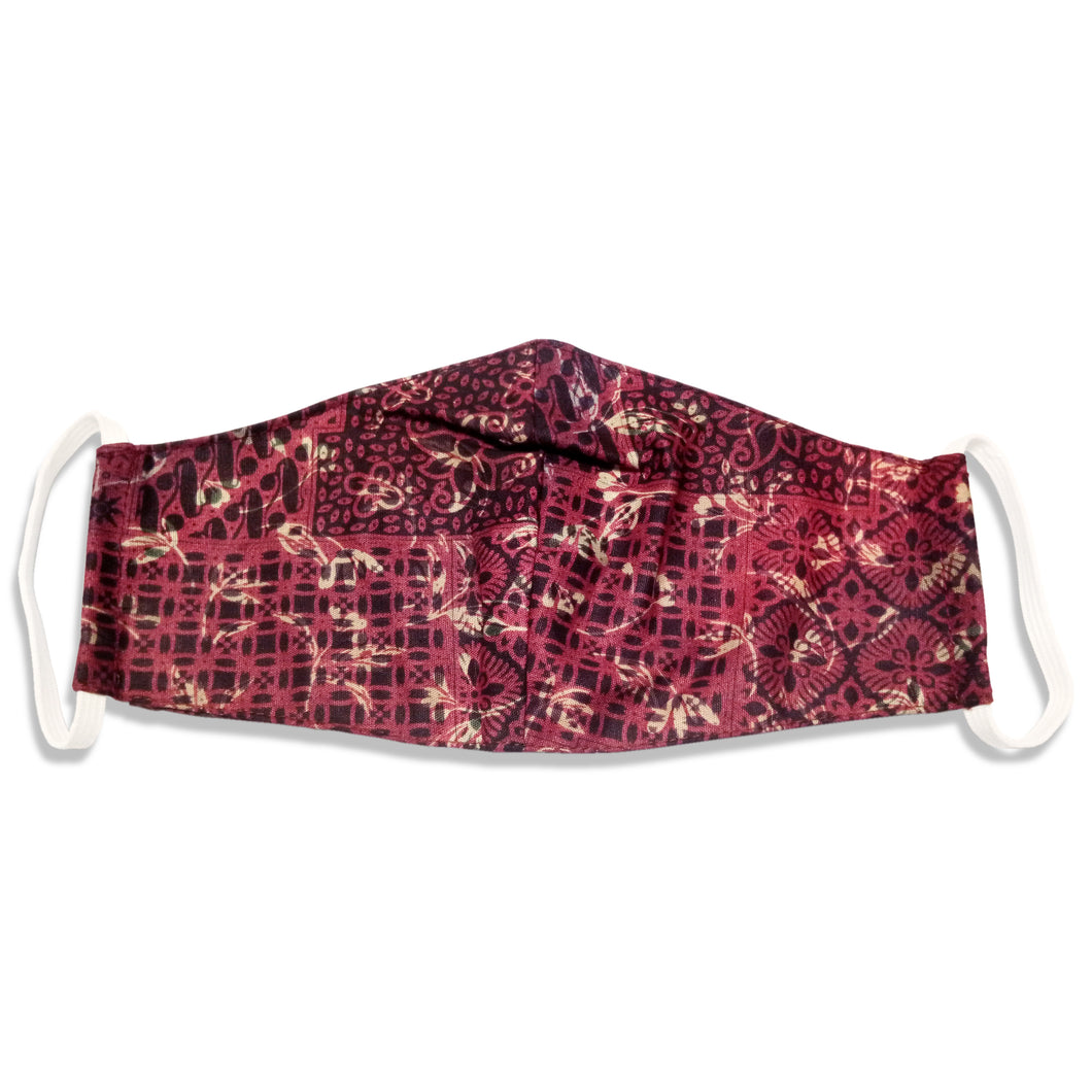 Bali Collection Batik Face Covering - Red