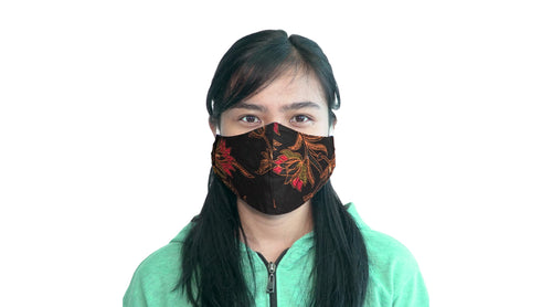 Bali Collection Batik Face Mask - Black
