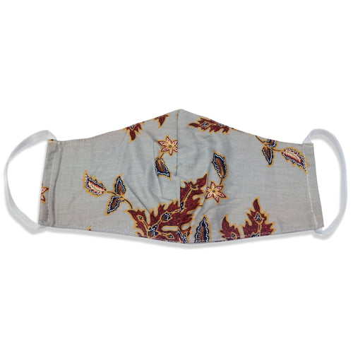 Bali Collection Batik Face Mask - Light Gray
